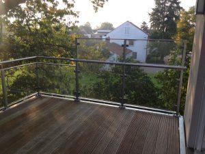 Balkon mit Blickrichtung West